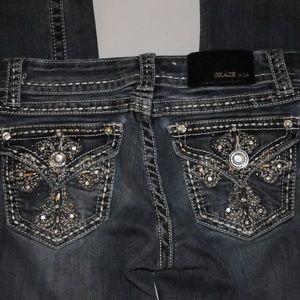 Grace Jeans - Grace in LA Beaded Jeans Size 26